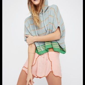 Free People Shimmer Sheen Hoodie Poncho